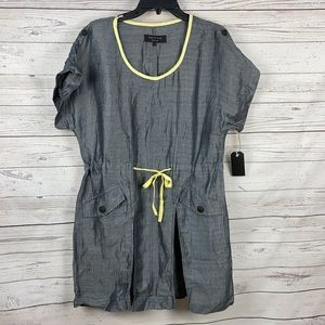 RAG & BONE Calico Linen Silk Tie Waist Dress 2